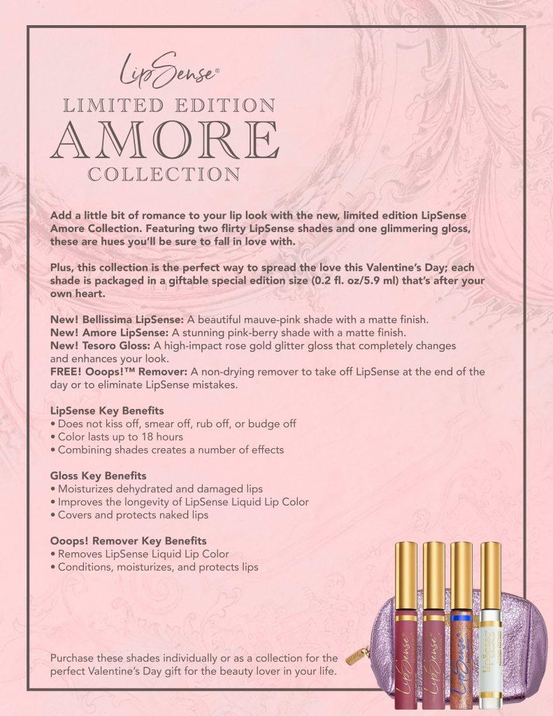 LipSense Amore Collection Details