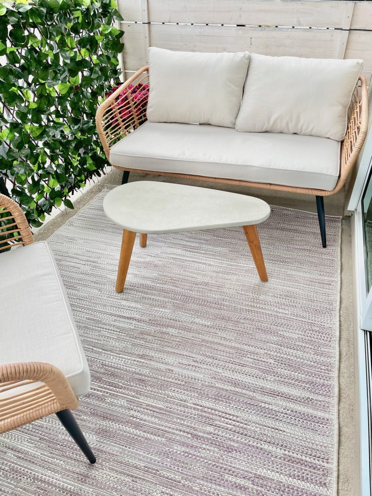 Small patio furniture on balcony